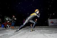 SCHAATSEN: Natuurijs: Kortebaan, Alteveer, 03-02-2012, NK dames, winares Laurine van Riessen, ©foto Martin de Jong
