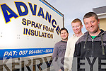 Pat O;Leary, co owner of Advance Insulation, pictured here with l-r: Tim O'Leary and Niall Sheahan.