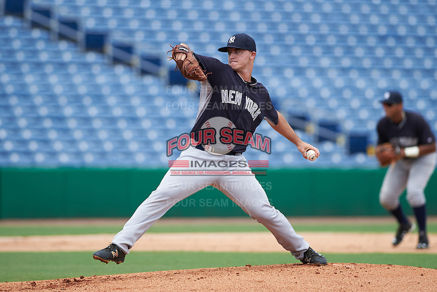 New York Yankees pitcher Ian Clarkin (36) during an instructional league game against the Philadelphia Phillies on September 29, 2015 at Brighthouse Field in Clearwater, Florida.  (Mike Janes/Four Seam Images)