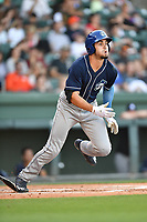 Right fielder Willie Abreu (6) of the Asheville Tourists in a game against the Greenville Drive on Tuesday, May 2, 2017, at Fluor Field at the West End in Greenville, South Carolina. Asheville won, 7-1. (Tom Priddy/Four Seam Images)