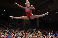 Arkansas' Sarah Shaffer competes Friday, Feb. 7, 2020, in the beam portion of the Razorbacks' meet with Georgia in Barnhill Arena in Fayetteville. Visit  nwaonline.com/gymbacks/ for a gallery from the meet.<br /> (NWA Democrat-Gazette/Andy Shupe)
