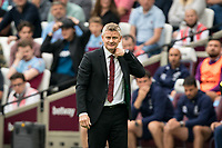 Man Utd manager Ole Gunnar Solskjaer during the Premier League match between West Ham United and Manchester United at the Olympic Park, London, England on 22 September 2019. Photo by Andy Rowland / PRiME Media Images.
