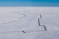 Pipeline near Nuiqsut, Alaska,  Arctic North Slope, National Petroleum Reserve in Alaska.