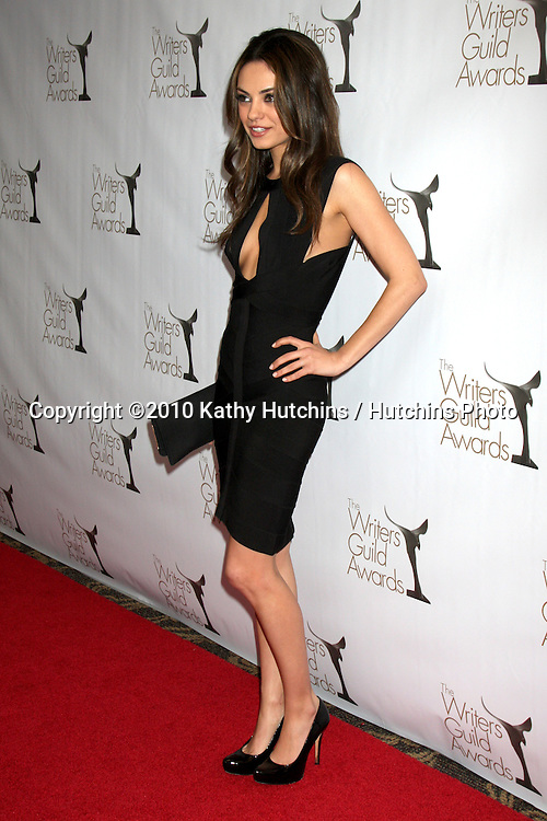 Mila Kunis.arriving at 2010 Writers Guild of America Awards.Century Plaza Hotel.Century City, CA.February 20, 2010.©2010 Kathy Hutchins / Hutchins Photo....