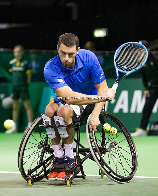 Rotterdam, The Netherlands, 16 Februari 2019, ABNAMRO World Tennis Tournament, Ahoy, Wheelchair singles, Final, Joachim Gerard (BEL),<br /> Photo: www.tennisimages.com/Henk Koster
