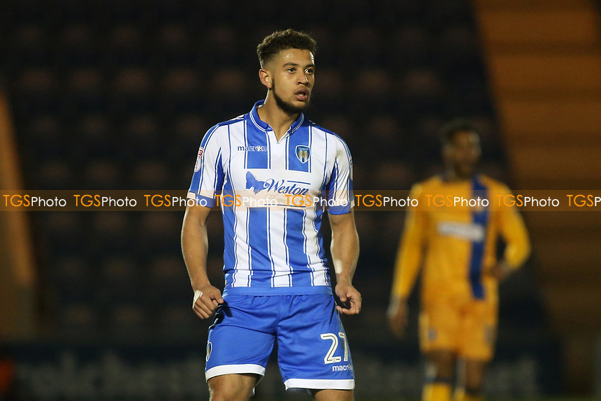 Rekeil Pyke of Colchester United during Colchester United vs Mansfield Town, Sky Bet EFL League 2 Football at the Weston Homes Community Stadium on 14th March 2017