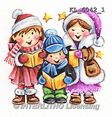Interlitho, CHRISTMAS CHILDREN, WEIHNACHTEN KINDER, NAVIDAD NIÑOS, paintings+++++,KL6042/1,#XK# .#161#