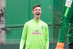 14.04.2018, Trainingsgelaende, Bremen, GER, 1.FBL, Training SV Werder Bremen<br /> <br /> im Bild<br /> Marco Friedl (Werder Bremen #32) lacht, <br /> <br /> Foto &copy; nordphoto / Ewert
