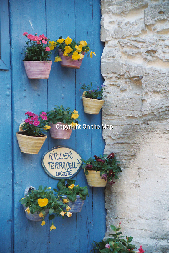 Flower pot door