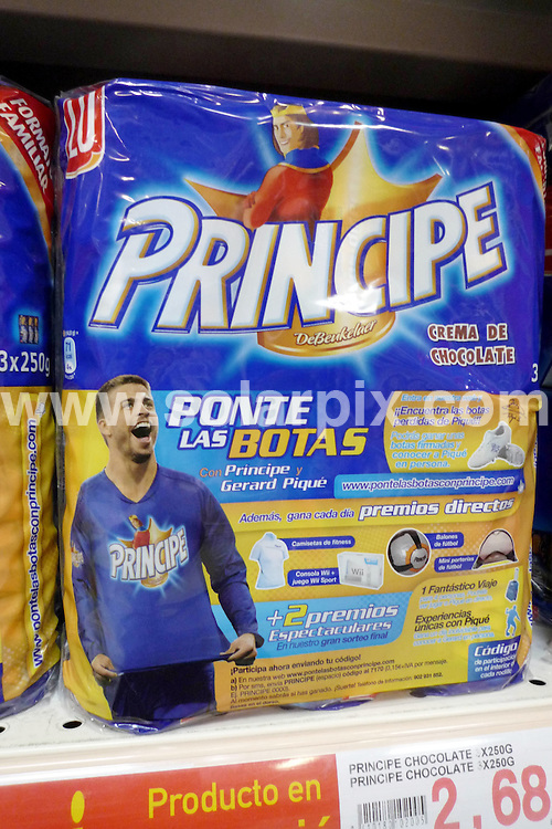 **ALL ROUND EXCLUSIVE PICTURES FROM SOLARPIX.COM**                                             **WORLDWIDE SYNDICATION RIGHTS**  .Spanish Football  World Cup teams multi million pound sponsorships after winning the World cup.                                                                                                                                                           This pic:  Gerard Pique from the Spanish World Cup winning side advertises Principe Biscuits in a Spanish supermarket.                                                                                         JOB REF: 12523       AB1       DATE: 24.11.2010                                                           **MUST CREDIT SOLARPIX.COM OR DOUBLE FEE WILL BE CHARGED**                                                                      **MUST AGREE FEE BEFORE ONLINE USAGE**                               **CALL US ON: +34 952 811 768 or LOW RATE FROM UK 0844 617 7637**