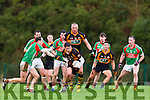 DJ Moran Austin Stacks picks up Kieran Donaghy knock down ahead of Alan Smith St Michaels Foilmore during the SFC relegation playoff in Killarney on Saturday