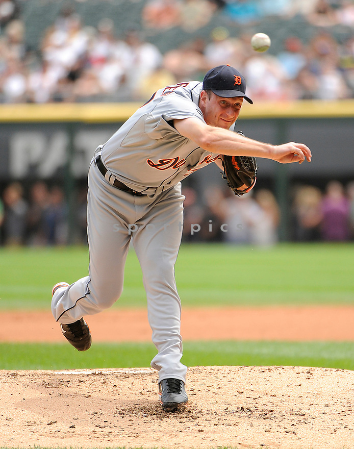 MAX SCHERZER, of the Detroit Tigers, in action during the Tiger's game against the Chicago White Sox on July 27,2011 at US Cellular Field in Chicago, Illinois. The White Sox beat the Tigers 2-1.