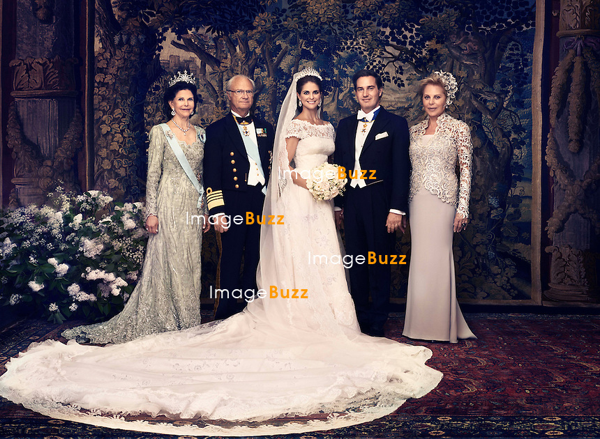 Princess Madeleine &amp; Christopher O'Neill Royal Wedding Official photos.<br /> Stockholm, Sweden, June 8, 2013.