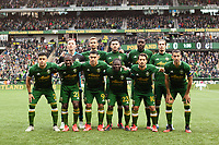PORTLAND, OR - MARCH 01: Portland Timbers starting XI during a game between Minnesota United FC and Portland Timbers at Providence Park on March 01, 2020 in Portland, Oregon.