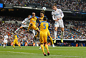 13th September 2017, Santiago Bernabeu, Madrid, Spain; UCL Champions League football, Real Madrid versus Apoel; Gareth Bale (11) Real Madrid Jesus Rueda (5) Apoel
