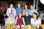 Triple Celebration for Shanakill family at the Stone House on Saturday Pictures front l-r Vera Manns, 80th Birthday, Sylvia and John O'Brien, 25th Wedding Anniversary,   Sharon Summers, 23rd Birthday, Back l-r Guenter Manns, John O'Brien Jr., Catherine McDonough, Gene Powell