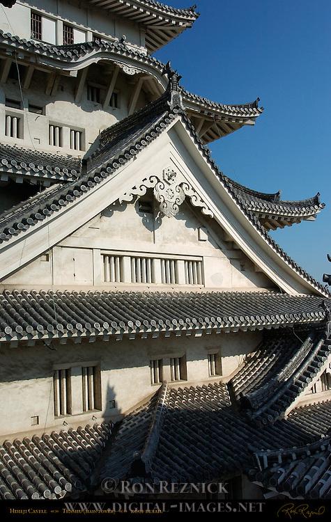 Himeji Castle Tenshu roof detail Shirasagi-jo White Heron Castle Himeji Japan