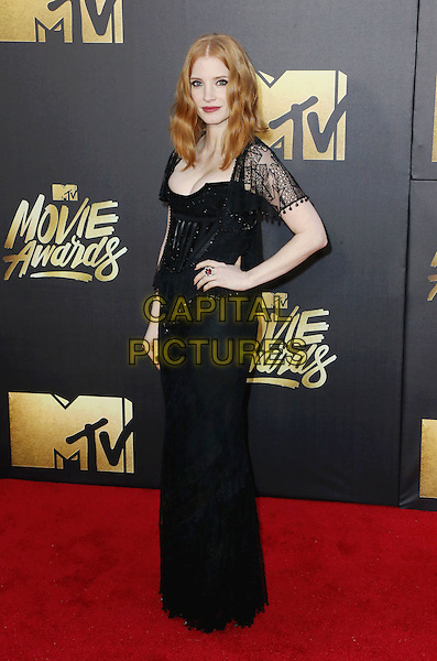 BURBANK, CA - APRIL 09: Actress Jessica Chastain attends the 2016 MTV Movie Awards at Warner Bros. Studios on April 9, 2016 in Burbank, California.<br /> CAP/ROT/TM<br /> &copy;TM/ROT/Capital Pictures