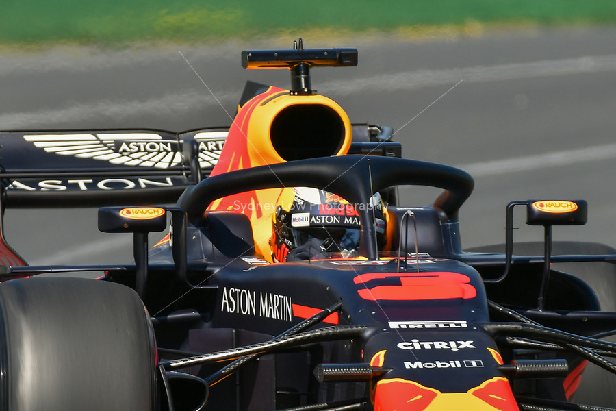 March 23, 2018: Daniel Ricciardo (AUS) #3 from the Aston Martin Red Bull Racing team during practice session one at the 2018 Australian Formula One Grand Prix at Albert Park, Melbourne, Australia. Photo Sydney Low