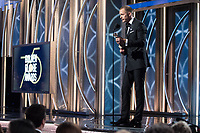 Alexander Skarsg&aring;rd accepts the Golden Globe Award for BEST PERFORMANCE BY AN ACTOR IN A SUPPORTING ROLE IN A SERIES, LIMITED SERIES OR MOTION PICTURE MADE FOR TELEVISION for his role in &quot;Big Little Lies&quot; at the 75th Annual Golden Globe Awards at the Beverly Hilton in Beverly Hills, CA on Sunday, January 7, 2018.<br /> *Editorial Use Only*<br /> CAP/PLF/HFPA<br /> &copy;HFPA/PLF/Capital Pictures