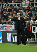 9th December 2017, St James Park, Newcastle upon Tyne, England; EPL Premier League football, Newcastle United versus Leicester City; Rafa Benítez Manager of Newcastle United shouting instructions to his players