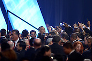 Washington, DC - October 2, 2014: U.S. President Barack Obama greets attendees after addressing the Congressional Hispanic Caucus Institute's annual Awards Gala at the Washington Convention Center in the District of Columbia, October 2, 2014.  (Photo by Don Baxter/Media Images International)