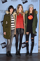 LONDON, UK. November 16, 2016: Sam Rollinson, Eve Delf &amp; Charlotte Wiggins at the launch of the Skate 2016 at Somerset House Ice Rink, London.<br /> Picture: Steve Vas/Featureflash/SilverHub 0208 004 5359/ 07711 972644 Editors@silverhubmedia.com
