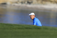 Bryson DeChambeau (USA) in a bunker at the 6th green during Sunday's Final Round of the 2018 AT&amp;T Pebble Beach Pro-Am, held on Pebble Beach Golf Course, Monterey,  California, USA. 11th February 2018.<br /> Picture: Eoin Clarke | Golffile<br /> <br /> <br /> All photos usage must carry mandatory copyright credit (&copy; Golffile | Eoin Clarke)