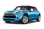 Stock pictures of low aggressive front three quarter view of a 2015 MINI Cooper S 4 Door 4 Door Hatchback Low Aggressive