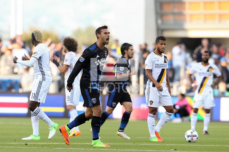 San Jose, CA - Saturday May 27, 2017: Chris Wondolowski during a Major League Soccer (MLS) match between the San Jose Earthquakes and the Los Angeles Galaxy at Avaya Stadium.