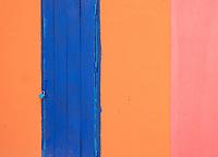 Battambang monasteries their wall colors and design, Cambodia.
