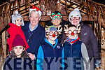 Saydie, Scarlett and Vincent Moriarty, Noreen Gillespie, Tomas Joy, Maura Joy and Megan Gillespie at the  turning on the Christmas lights in Killorglin on Saturday evening