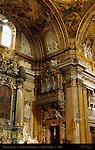 Left Transept Detail Altar St Ignatius of Loyola Andrea Pozzo Tamburini Organ Trompe-l'oeil Frescoes Giovanni Battista Gaulli Antonio Raggi Chiesa del Gesu Rome