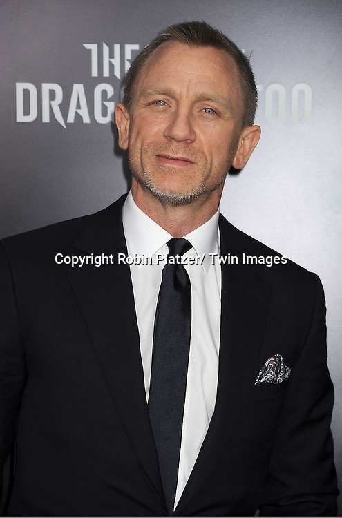 """Daniel Craig attends the New York Premiere of """"The Girl With The Dragon Tattoo"""" on December 14, 2011 at The Ziegfeld Theatre in New York City. The movie stars Daniel Craig, ..Rooney Mara, Christopher Plummer, Stellan Skarsgard, Robin Wright and Joely Richardson."""