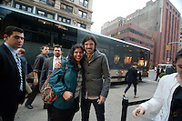 Seth Avett of The Avett Brothers outside after their performance during The MLB Fan Cave Concert Series in New York City. May 8, 2012. © Kristen Driscoll/MediaPunch Inc.