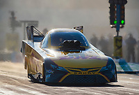 Oct 11, 2019; Concord, NC, USA; NHRA funny car driver J.R. Todd during qualifying for the Carolina Nationals at zMax Dragway. Mandatory Credit: Mark J. Rebilas-USA TODAY Sports