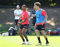 Lucas Torro (Eintracht Frankfurt), Sebastien Haller (Eintracht Frankfurt) - 18.07.2018: Eintracht Frankfurt Training, Commerzbank Arena