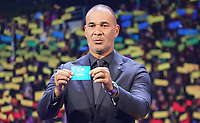 Ruud Gullit hat Russland gezogen - 30.11.2019: UEFA EURO2020 Auslosung, Romexpo Bukarest, DISCLAIMER: UEFA regulations prohibit any use of photographs as image sequences and/or quasi-video.