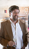 Q Fernando Deicas, president and owner in the tasting room. Bodega Juanico Familia Deicas Winery, Juanico, Canelones, Uruguay, South America
