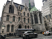 St. Patrick's Cathedral in New York - 11.04.2018: Sightseeing in New York