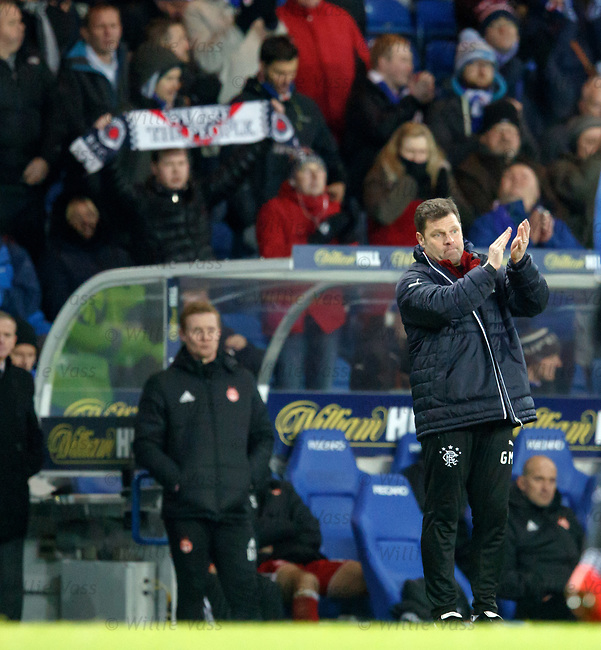 Graeme Murty applauds his players