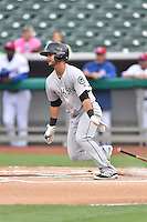 Jackson Generals second baseman Tim Lopes (7) swings at a pitch during a game against the Tennessee Smokies at Smokies Stadium on July 5, 2016 in Kodak, Tennessee. The Generals defeated the Smokies 6-4. (Tony Farlow/Four Seam Images)