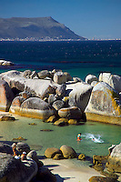 CAPE TOWN, SOUTH AFRICA, NOVEMBER 2004. Just outside Cape Town lies Boulders Beach, where tourists share the beach with a penguin colony. Photo by Frits Meyst/Adventure4ever.com