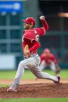 Nebraska Cornhuskers pitcher Chance Sinclair (16) ACTION during Houston College Classic against the Texas A&M Aggies on March 6, 2015 at Minute Maid Park in Houston, Texas. Texas A&M defeated Nebraska 2-1. (Andrew Woolley/Four Seam Images)