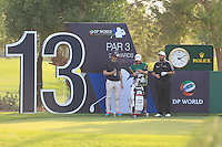 Shane Lowry (IRL) with Neil Manchip (Coach) and his caddy Dermot Byrne on the 13th tee during the Pro-Am for the DP World Tour Championship at the Jumeirah Golf Estates in Dubai, UAE on Monday 16/11/15.<br /> Picture: Golffile | Thos Caffrey<br /> <br /> All photo usage must carry mandatory copyright credit (© Golffile | Thos Caffrey)