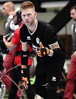20191010 - HALLE: Halle-Gooik's GK Zaramello  is pictured during the UEFA Futsal Champions League Main Round match between FP Halle-Gooik (BEL) and Kherson (UKR) on1 0th October 2019 at De Bres Sportcomplex, Halle, Belgium. PHOTO SPORTPIX | SEVIL OKTEM