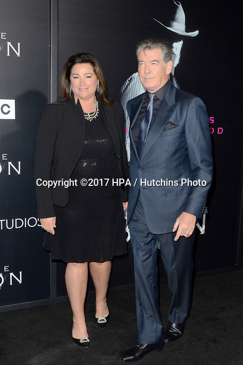 """LOS ANGELES - APR 3:  Keely Shaye Smith, Pierce Brosnan at the AMC's """"The Son"""" Season One LA Premiere at ArcLight Theater on April 3, 2017 in Los Angeles, CA"""