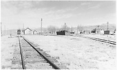 Overall view of D&amp;RGW facilities at Moffat, looking north along main line.<br /> D&amp;RGW  Moffat, CO  Taken by Richardson, Robert W. - 11/1950