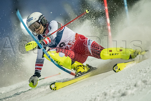 8th February 2019, Are, Sweden; Alpine skiing: Combination, ladies: Ramona Siebenhofer from Austria on the slalom course.