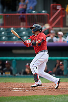 Erie SeaWolves Isaac Paredes (18) at bat during an Eastern League game against the Altoona Curve on June 5, 2019 at UPMC Park in Erie, Pennsylvania.  Altoona defeated Erie 6-2.  (Mike Janes/Four Seam Images)